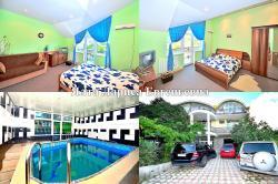 гостевой дом с бассейном сауной мангалом до 3 чел в номере