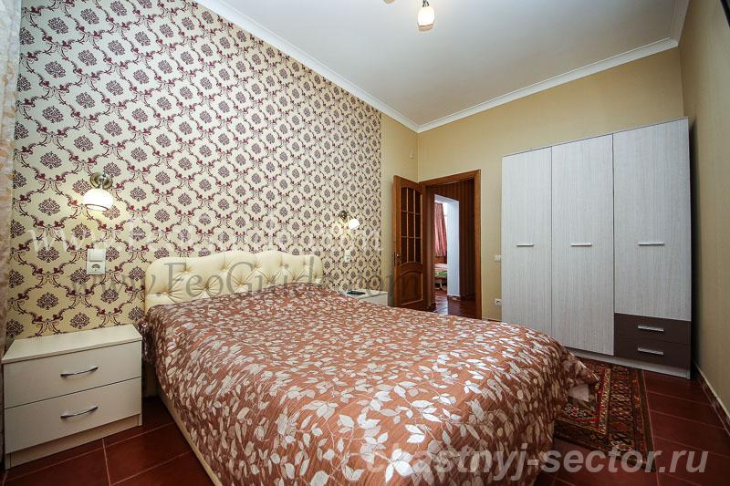 Двухкомнатный номер с видом на море,  ул.  Черноморская +79787433813